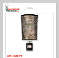 50 LB. HANGING FEEDER W/E-KIT AND REALTREE AP CAMO